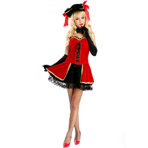 Adult Womens Sexy Royal Pirate Lady Costume Halloween / Stage Performance / Party