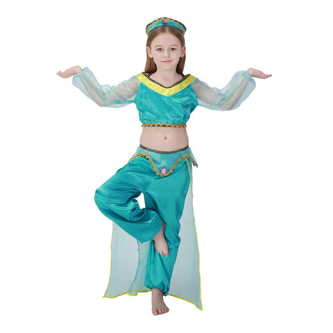 Aladdin Jasmine Princess Kids Girls Dress Costume Halloween Costume