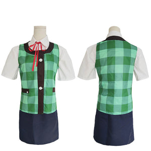 Animal Crossing Isabelle Green Cosplay Costume Halloween Costume Full Set