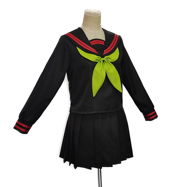 Anime Demon Slayer Kimetsu no Yaiba Cosplay Costume Kamado Nezuko Makomo JK School Uniforms Sailor Suit