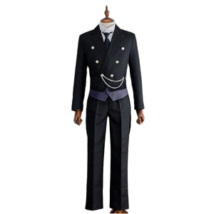 Anime Black Butler Sebastian Michaelis Cosplay Costume  Full Set Halloween Costume