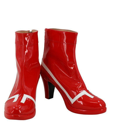 Anime Darling in the Franxx 02 Cosplay Shoes Red  Zero Two Fighting Suit Costume Boots
