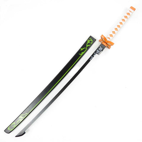 Anime Demon Slayer / Kimetsu no Yaiba Kochou Shinobu Cosplay Props Wood Sword Deluxe Version