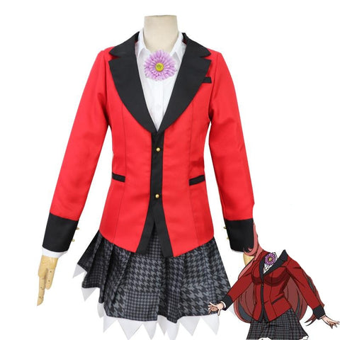 Anime Kakegurui Compulsive Gambler Yumemi Yumemite Cosplay Costume Uniform Full Set