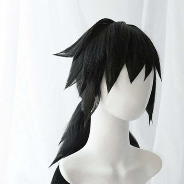 Anime Demon Slayer  Kimetsu no Yaiba Tomioka Giyuu Cosplay Wigs