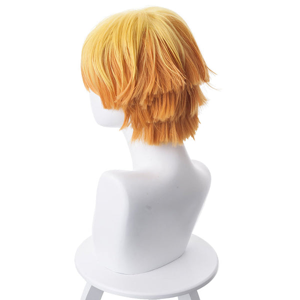 Anime Demon Slayer / Kimetsu no Yaiba Zenitsu Agatsuma Cosplay Wigs