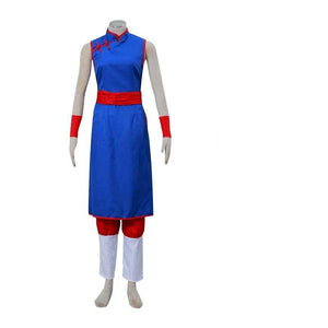 Anime Dragon Ball Chi-Chi Blue Cosplay Costume Suit Full Set