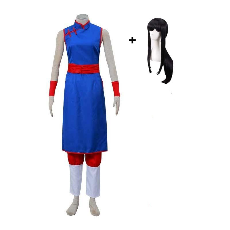 Anime Dragon Ball Chi-Chi Cosplay Costume With Wigs