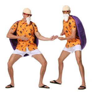 Anime Dragon Ball Master Roshi Cosplay Costume Suit Full Set