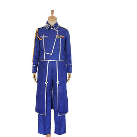 Anime Fullmetal Alchemist Cosplay Roy Mustang Uniform Costume Version 1