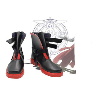 Anime Fullmetal Alchemist Edward Elric Cosplay Shoes