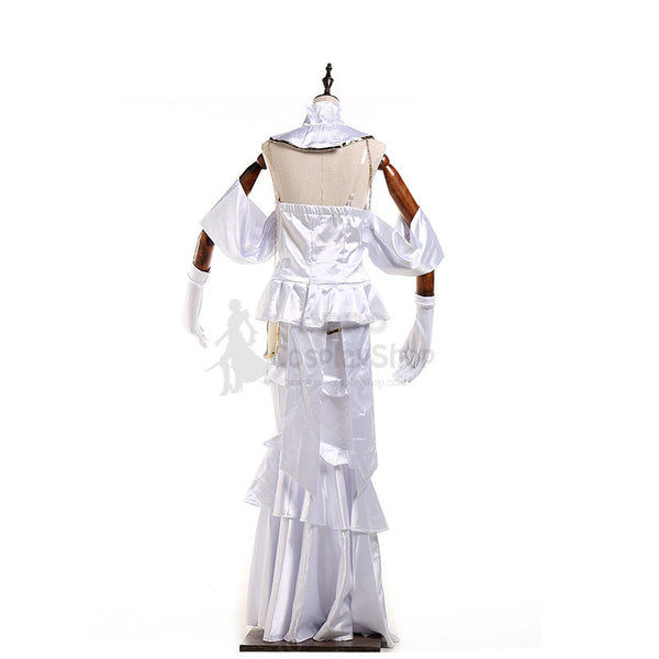 Anime Overlord Albedo Cosplay Costume White Dress