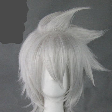 Anime Soul Eater Soul Evans Cosplay Short Silver White Wigs
