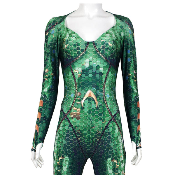 Aquaman Mera Queen Cosplay Zentai  Costume