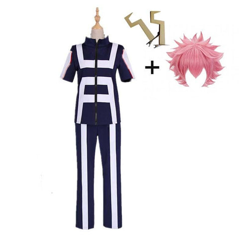 Boku No Hero / My Hero Academia Ashido Mina Training/Gym Suit Cosplay Costumes With Wigs Unisex