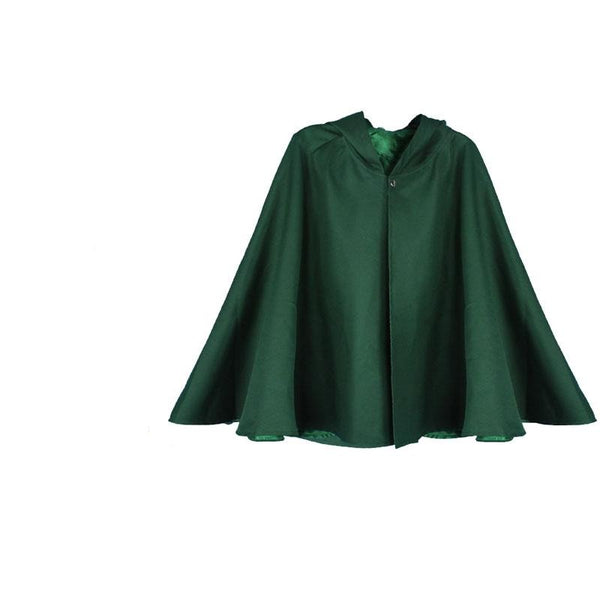 Attack On Titan Survey Corps Green Cloak Cape Uniform Cosplay Costume Unisex