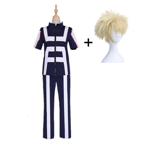 Boku No Hero / My Hero Academia Bakugou Katsuki Training/Gym Suit Cosplay Costumes With Wigs Unisex
