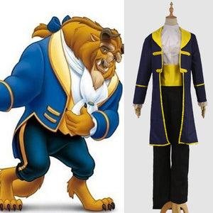Beauty and The Beast The Prince Adam Halloween Cosplay Costume Oufit