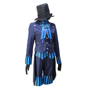 Anime Black Butler Ciel Phantomhive Cosplay Costume Blue Uniform