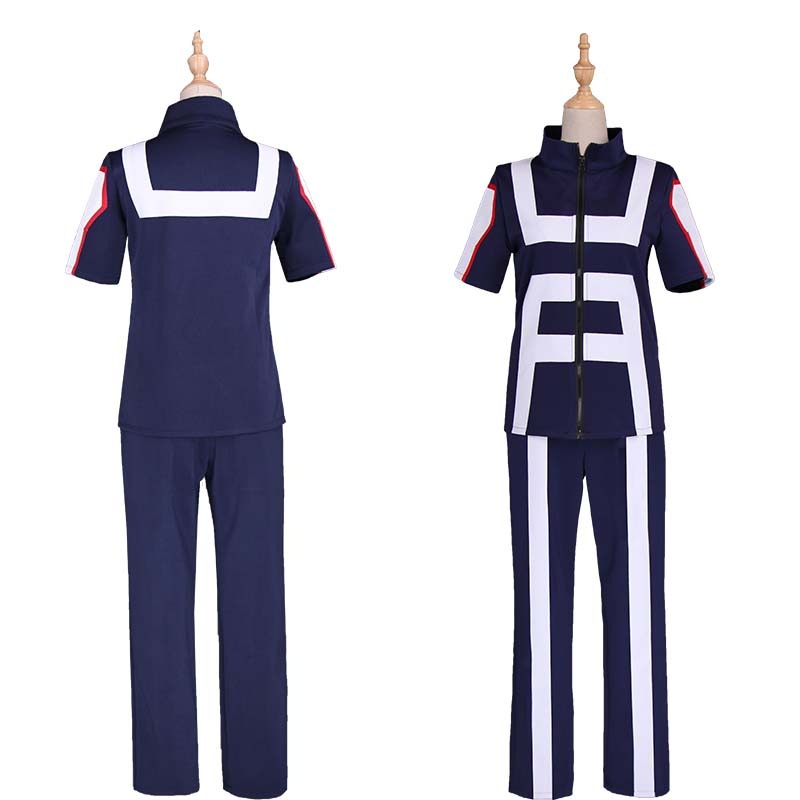 Boku No Hero My Hero Academia Denki Kaminari Training Gym Suit Cosplay Costumes With Wigs Unisex