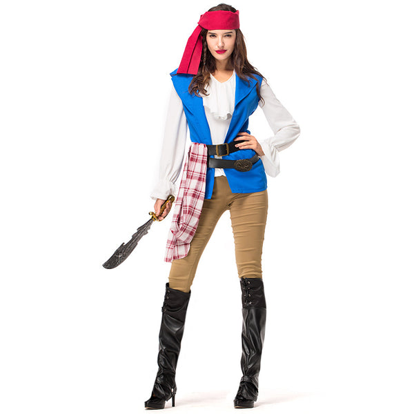 Couples Matching Pirate Cosplay Costume Halloween/Stage Performance/Party