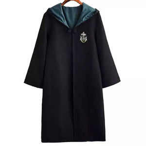 Adult Unisex Harry Potter Hogwarts Robe Cloak Slytherin Costume Halloween/Stage Performance/Party
