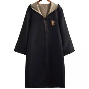 Adult Unisex Harry Potter Hogwarts Robe Cloak Hufflepuff Costume Halloween/Stage Performance/Party