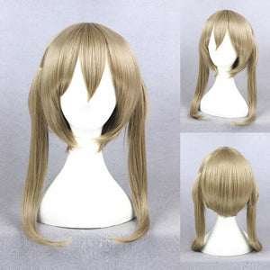 Anime Soul Eater Maka Albarn Cosplay Long Blond Wigs