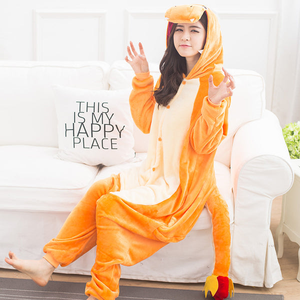 Pokemon Pocket Monster Charmander Kigurumi Onesies Cosplay Costume