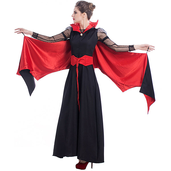 Deluxe Women Vampire Queen Witch Cosplay Costume For Halloween Party Performance