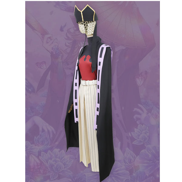 Anime Demon Slayer/Kimetsu No Yaiba Douma Cospaly Costume Full Set With Hat