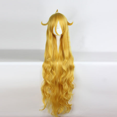Fairy Tail Mavis Vermilion Cosplay Wig Long Blond Wigs