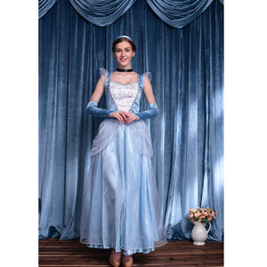 Frozen Elsa Princess Dress Halloween Cosplay Costume