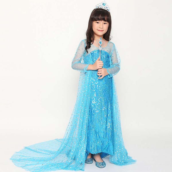 Girls Disney Frozen Elsa Princess Dress Costume Halloween / Stage Performance / Party
