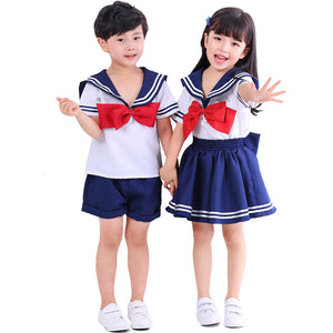 Japanese Sailor School Uniform Kids Gilrs Boys Halloween Costume
