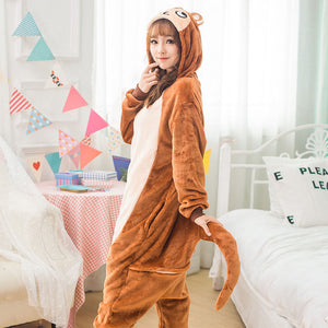 Money Kigurumi Animal Onesies Monkey Hoodie Pajamas