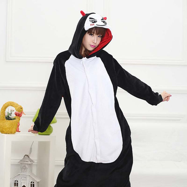 Kigurumi Animal Onesies Demon Hoodie Pajamas
