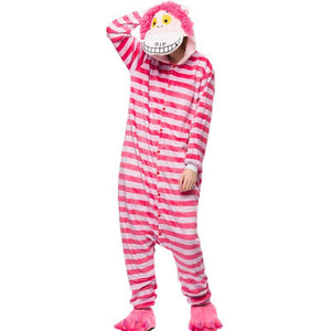 Kigurumi Animal Onesies Cheshire Cat Hoodie Pajamas