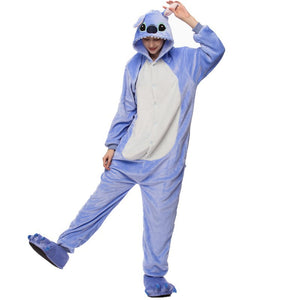 Kigurumi Animal Onesies Stitch Hoodie Pajamas