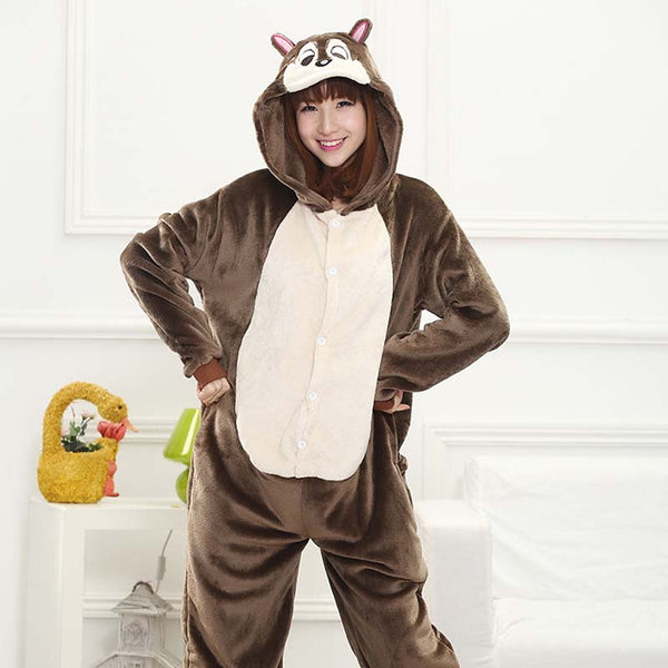 Kigurumi Animal Onesies Chipmunk Hoodie Pajamas