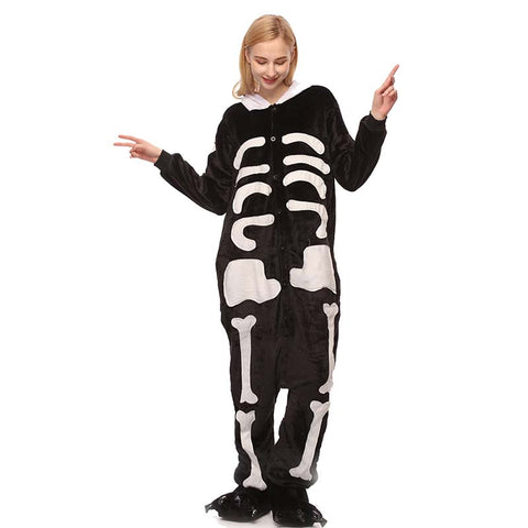 Kigurumi Animal Onesies Skeleton Hoodie Pajamas