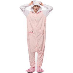 Kigurumi Animal Onesies Hello Kitty Hoodie Pajamas