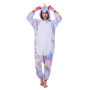 Kigurumi Animal Onesies Unicorn Hoodie Pajamas Purple