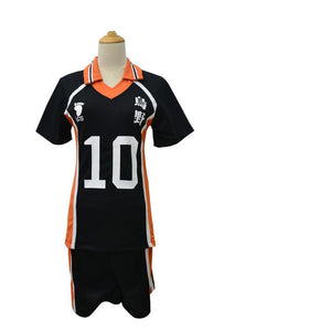 Anime Haikyuu!! Karasuno Hinata Shouyou Cosplay Costume No. 10 Cosplay T-shirt and Shorts Set