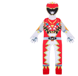 Kids Boys Mighty Morphin Power Rangers Costumes Halloween Cosplay Zentai