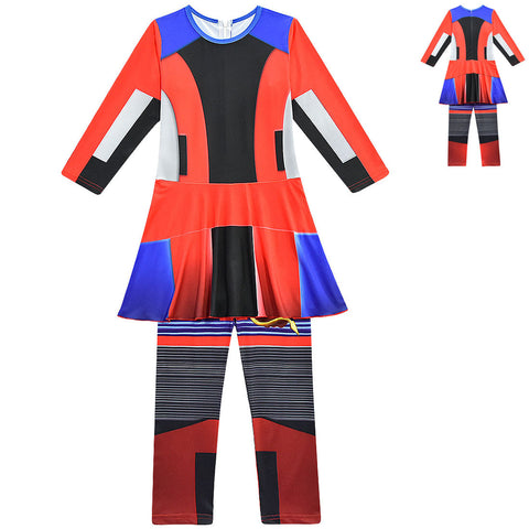 Kids Descendants 3 Evie Costume Halloween Cosplay Costume Jumpsuit