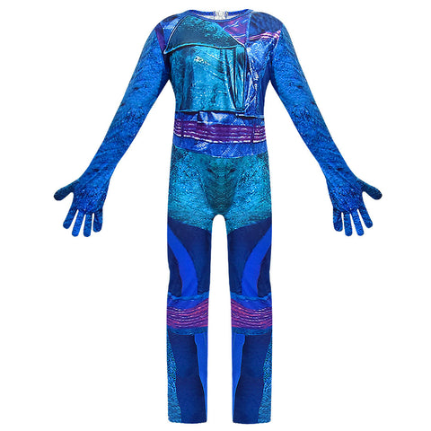 Kids Descendants 3 Evie Costume Halloween Cosplay Jumpsuit