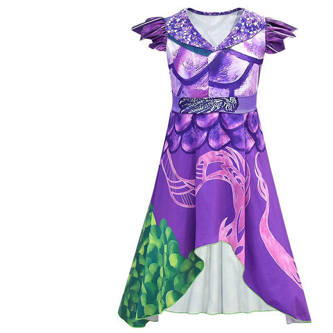 Kids Descendants 3 Mal Costume Halloween Cosplay Dress