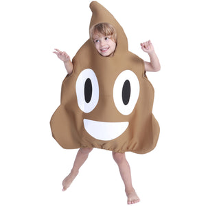Kids Girls Boys Funny Halloween Poop Costume