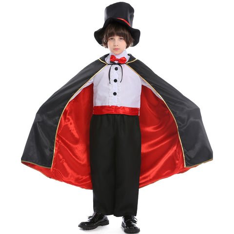Kids Magician Halloween Cosplay Costume